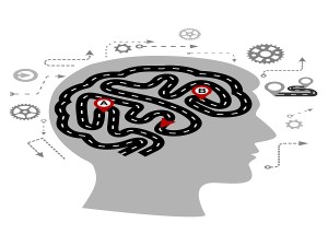 Thought processes of a human brain